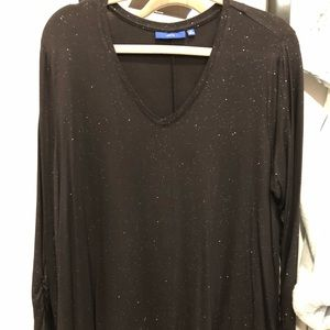 Apt 9 black blouse with silver speckles